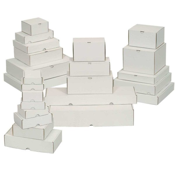 קופסאות קרטון לבן ממבלט