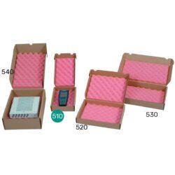 קופסאות קרטון עם ספוג אנטי סטטי 160X265X48 מ״מ