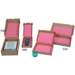 קופסאות קרטון עם ספוג אנטי סטטי 305X240X50 מ״מ