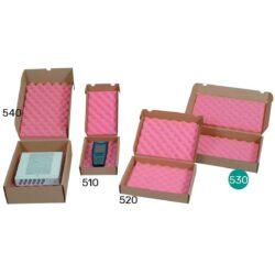 קופסאות קרטון עם ספוג אנטי סטטי 392X252X59 מ״מ