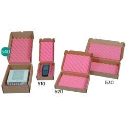 קופסאות קרטון עם ספוג אנטי סטטי 365X253X107 מ״מ