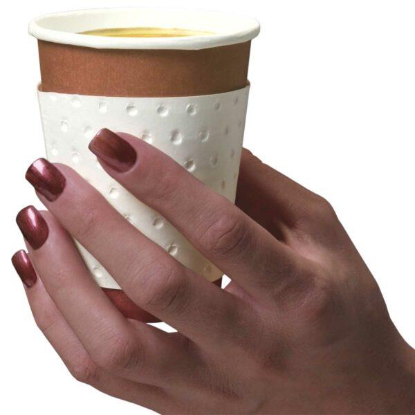 ידיות בידוד לכוסות נייר Coffee Hand - קופי הנד