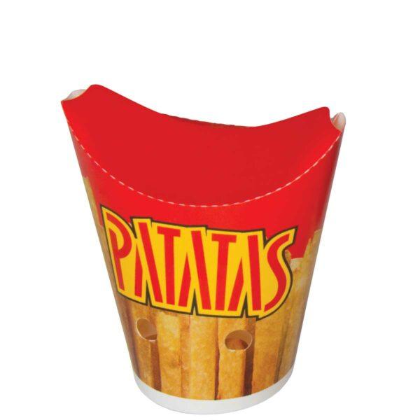 כוסות נייר PATATAS הדפס צ׳יפס 450 מ״ל B6 - קרטון 1000 כוסות