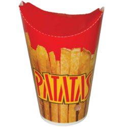 כוסות נייר PATATAS הדפס צ׳יפס 450 מ״ל F2 - קרטון 1000 כוסות