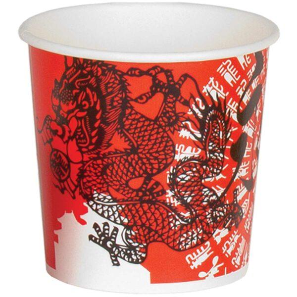 כוסות נייר למרק, הדפס סיני N1 - 32oz - קרטון 500 כוסות