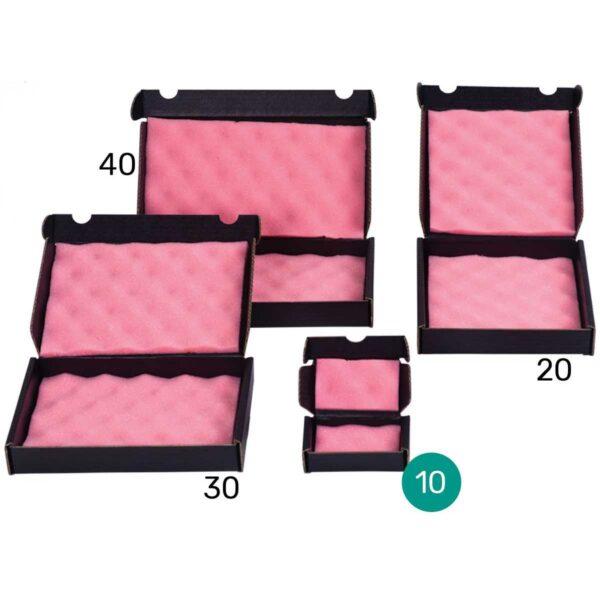 קופסאות קרטון שחור מוליך עם ספוג אנטי סטטי 120X70X30 מ״מ