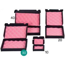 קופסאות קרטון שחור מוליך עם ספוג אנטי סטטי 300X160X40 מ״מ