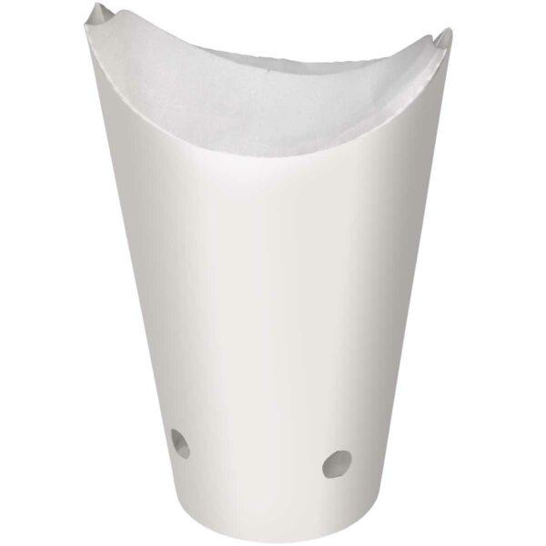 כוסות נייר PATATAS לבן חלק 450 מ״ל F2 - קרטון 1000 כוסות