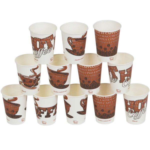 קלאסיק Classic כוסות נייר לשתיה חמה