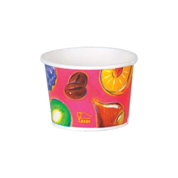 כוסות גלידה 100 מ״ל סדרת פירות