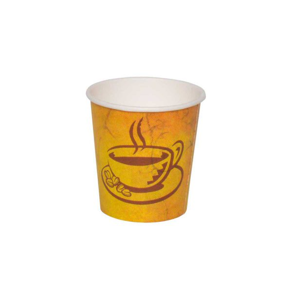 כוסות נייר לשתיה חמה 100 מ״ל - סדרת Café Marble - קפה גרניט / מרבל