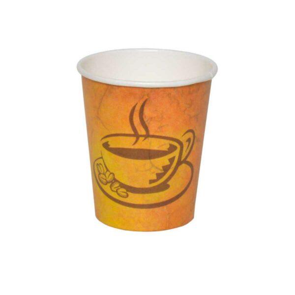 כוסות נייר לשתיה חמה 180 מ״ל - סדרת Café Marble - קפה גרניט / מרבל