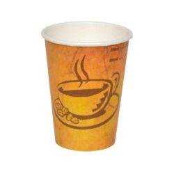 כוסות נייר לשתיה חמה 250 מ״ל - סדרת Café Marble - קפה גרניט / מרבל
