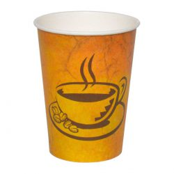 כוסות נייר לשתיה חמה 370 מ״ל - סדרת Café Marble - קפה גרניט / מרבל