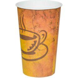 כוסות נייר לשתיה חמה 500 מ״ל - סדרת Café Marble - קפה גרניט / מרבל