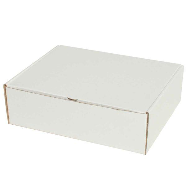 קופסאות קרטון לבן ממבלט 230X185X75 מ״מ