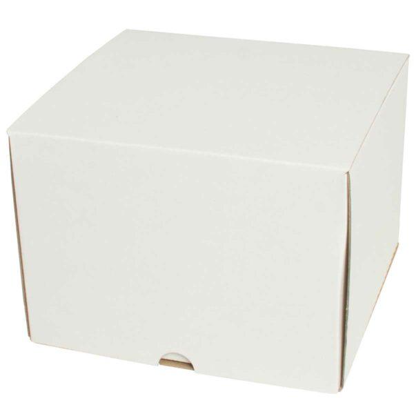קופסאות קרטון לבן ממבלט 200X200X160 מ״מ