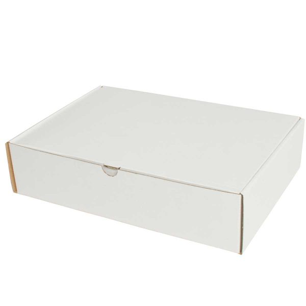 קופסאות קרטון לבן ממבלט 350X240X80 מ״מ