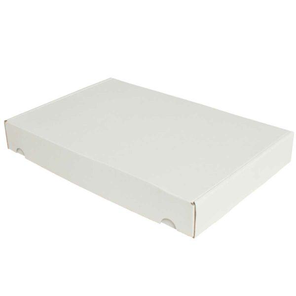 קופסאות קרטון לבן ממבלט 372X252X50 מ״מ