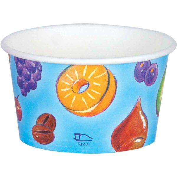 כוסות גלידה 500 מ״ל סדרת פירות