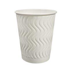 כוסות נייר TBC - הכוס הטובה בעולם - כוס מבודדת 8oz, לבן - 1000 כוסות בקרטון