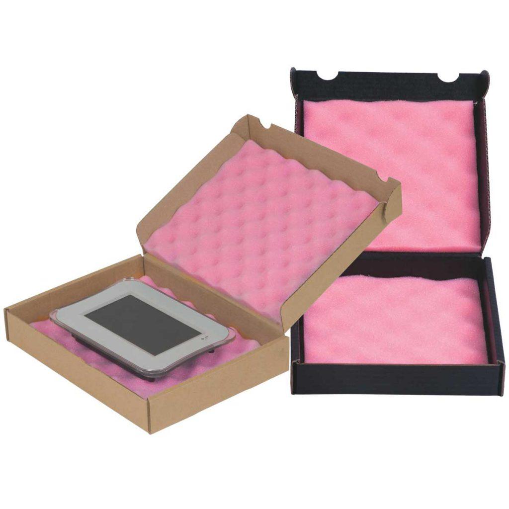 קופסאות קרטון עם ספוג אנטי סטטי