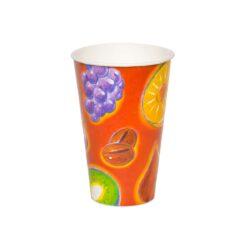 כוסות נייר לשתיה קרה 350 מ״ל סדרת פירות