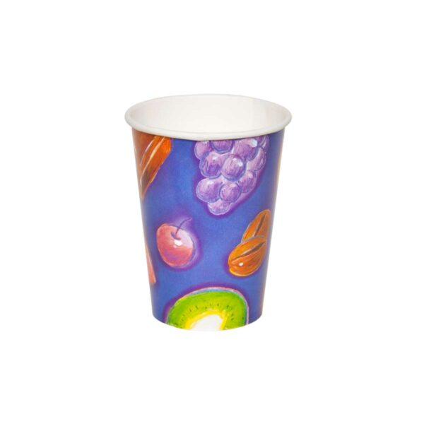 כוסות נייר לשתיה קרה 250 מ״ל סדרת פירות