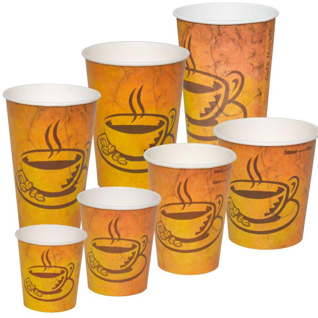 כוסות נייר לבית קפה - גרניט Café Marble