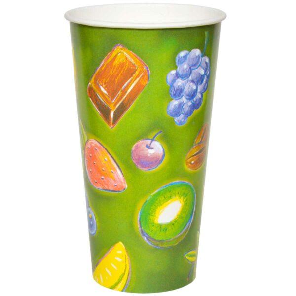 כוסות נייר לשתיה קרה 1000 מ״ל סדרת פירות