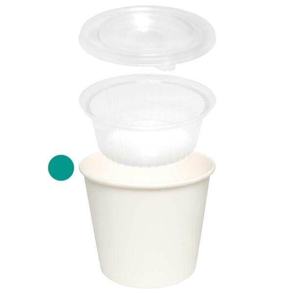 כוסות למארז Combi Cup, לבן - 1,100 מ״ל - קרטון 500 כוסות