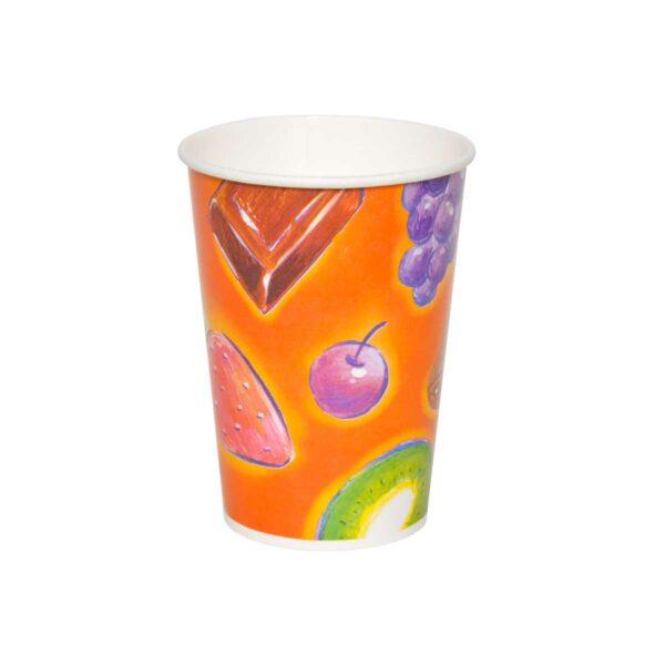 כוסות נייר לשתיה קרה 370 מ״ל סדרת פירות