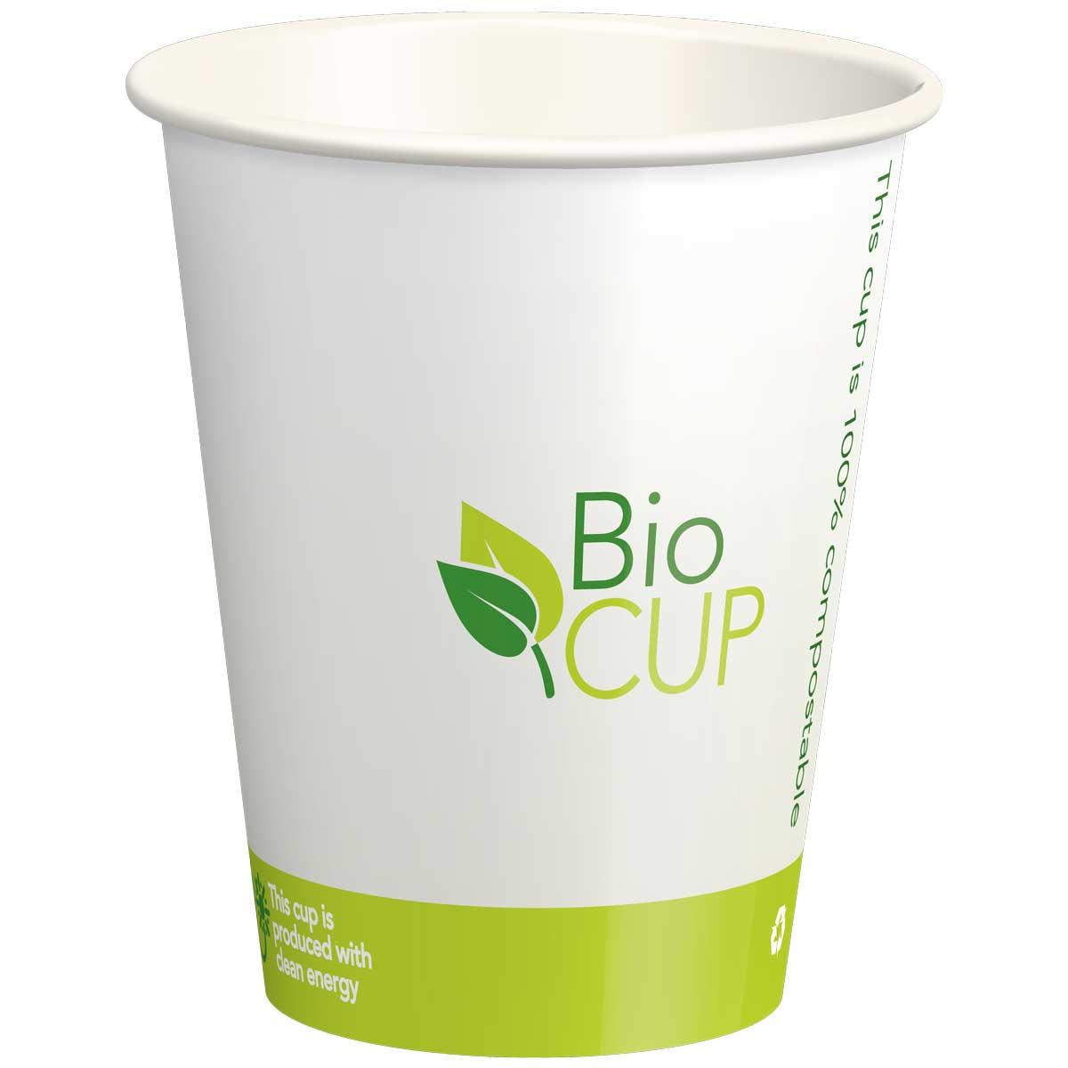 כוסות נייר אקולוגיות BioCUP - קרטון 1000 כוסות