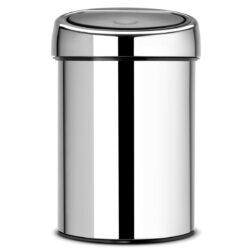 פח טאץ 3 ליטר מבריק, כולל תליה Brabantia - לשירותים במשרד