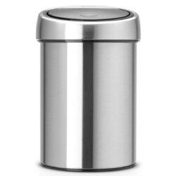 פח טאץ 3 ליטר מט כולל תליה Brabantia לשירותים במשרד