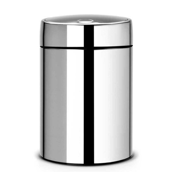פח אשפה סלייד 5 ליטר מבריק כולל תליה Brabantia לשירותים במשרד
