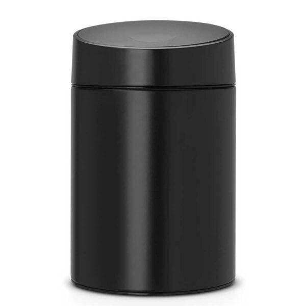 פח אשפה סלייד 5 ליטר שחור כולל תליה Brabantia לשירותים במשרד