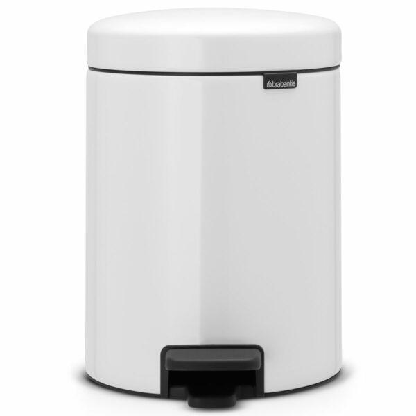 פח פדל 5 ליטר לבן Brabantia - NewIcon לשירותים במשרד