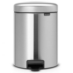 פח פדל 5 ליטר מט FPP ללא סימני ידיים Brabantia - NewIcon לשירותים במשרד