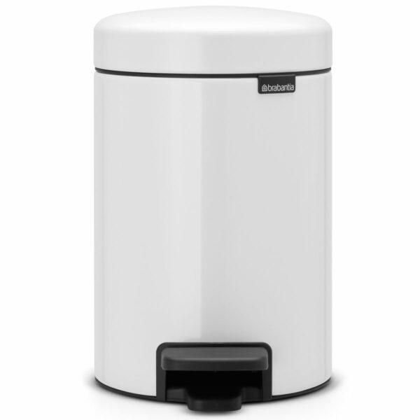 פח אשפה פדל 3 ליטר לבן Brabantia - NewIcon לשירותים במשרד