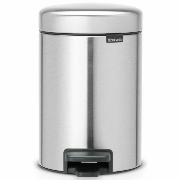 פח אשפה פדל 3 ליטר מט FPP ללא סימני ידיים Brabantia - NewIcon לשירותים במשרד