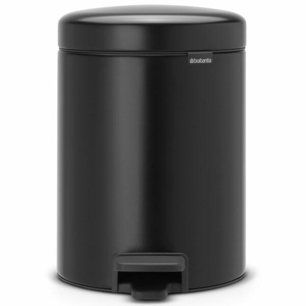 פח פדל 5 ליטר שחור מט Brabantia - NewIcon לשירותים במשרד