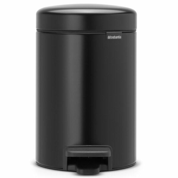 פח פדל 3 ליטר שחור מט Brabantia - NewIcon לשירותים במשרד