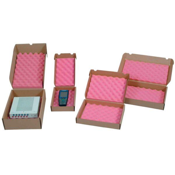 קופסאות קרטון חום עם ספוג אנטי סטטי