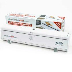 דיספנסר עטיפה מקצועי Speedwrap 450 - לחיתוך ואחסון גלילי רדיד אלומיניום וניילון נצמד ברוחב 450 מ״מ