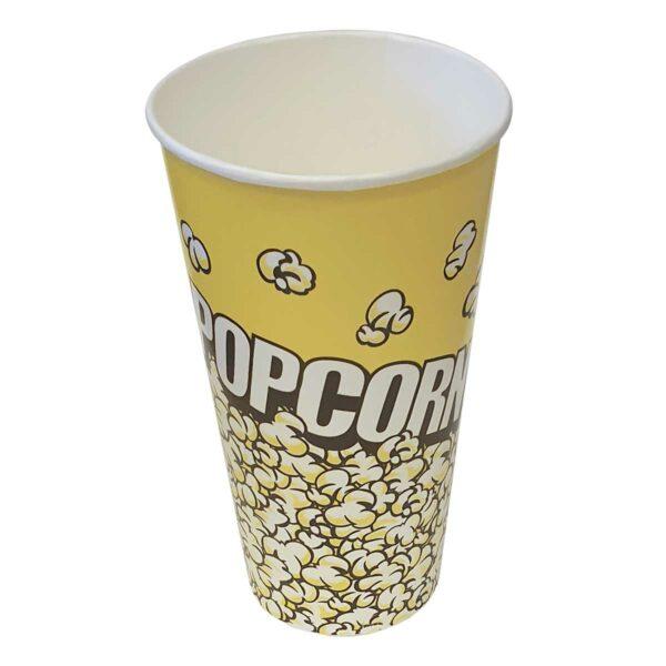 כוסות פופקורן 1 ליטר H1 - רקע צהוב